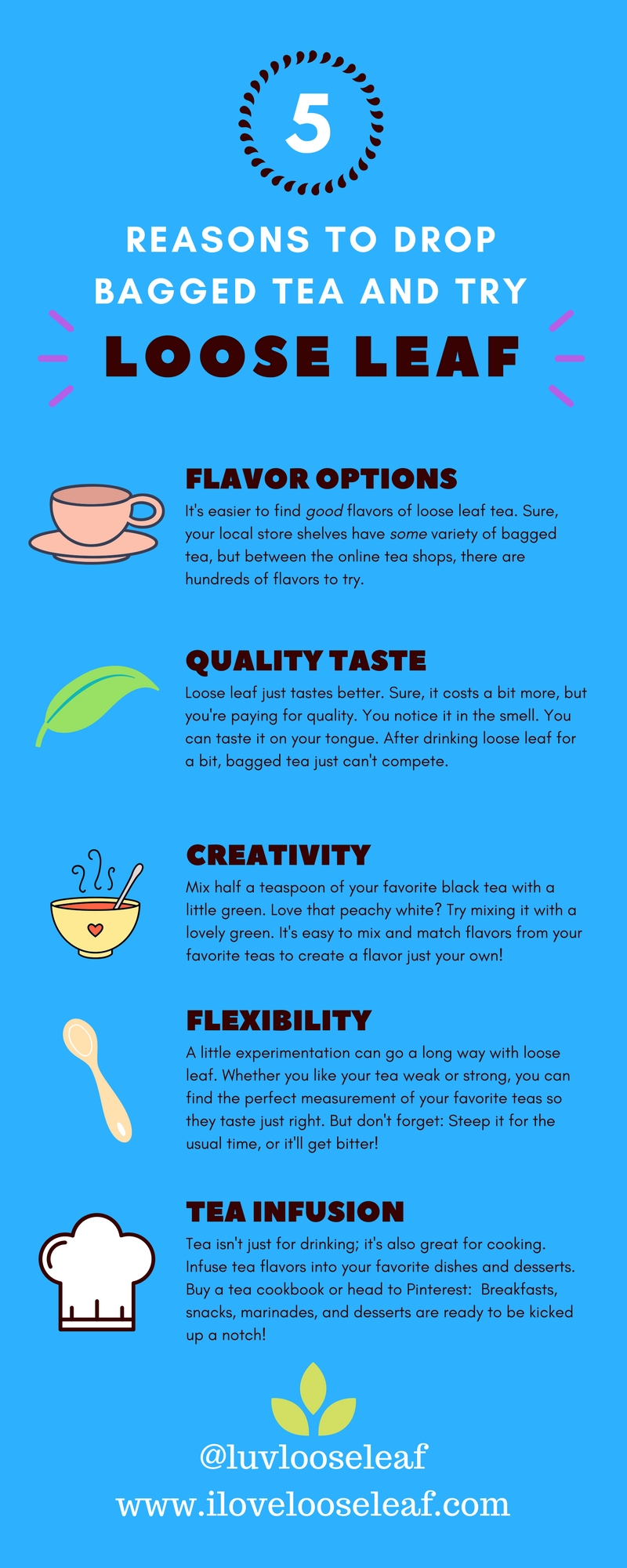 reasons to drink loose leaf tea infographic